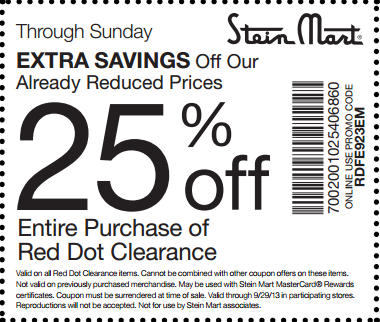 image about Stein Mart Printable Coupon named Pin via Dylan Layla upon Stein Mart Coupon codes Printable discount coupons
