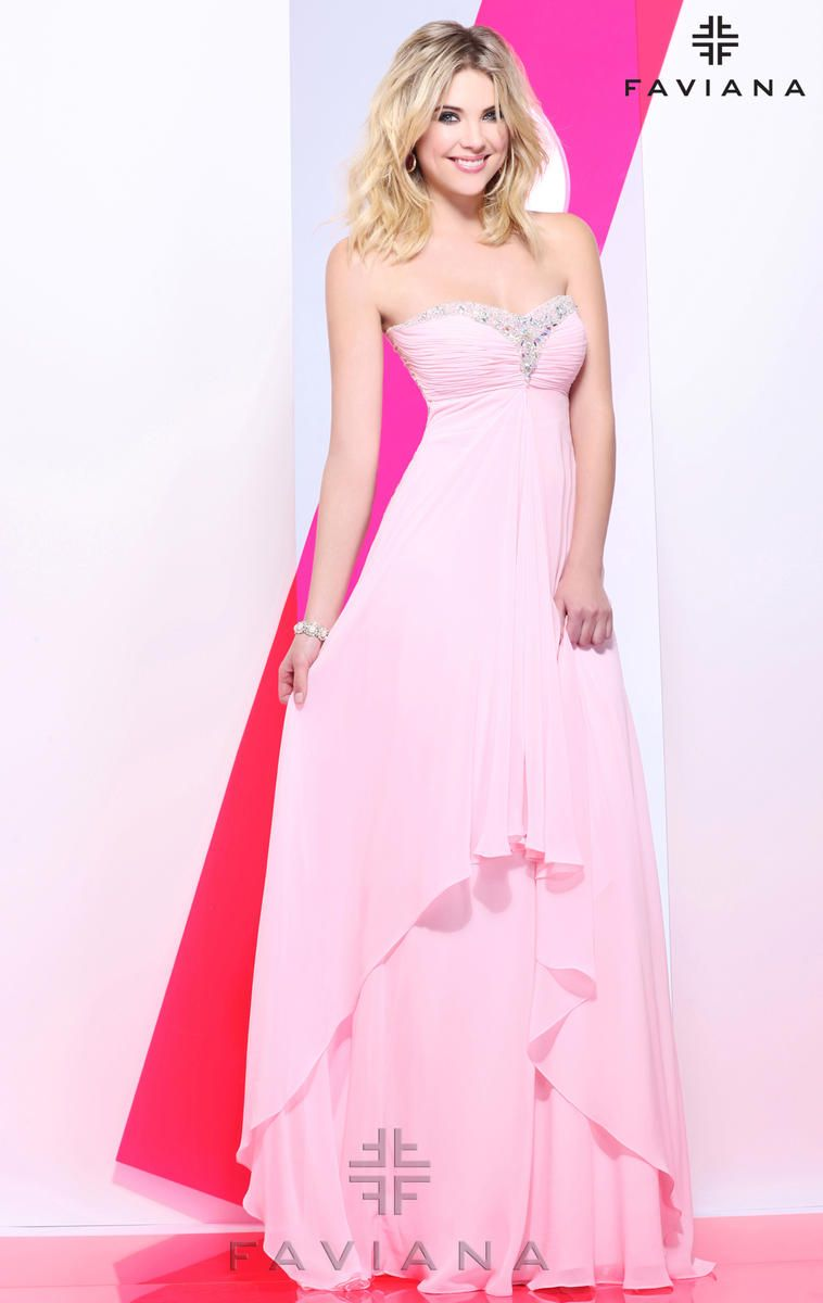 Faviana 7101 Ashley Benson in this fabulous A-line gown! Check it ...