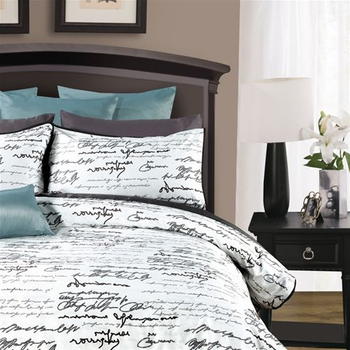Best Black And White Script Bedding I Wish This Wasn T So Dang 640 x 480