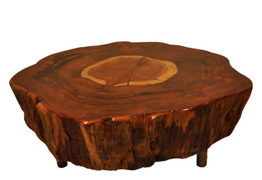 Asian Style DIY Tree Trunk Coffee Table Design - Living ...