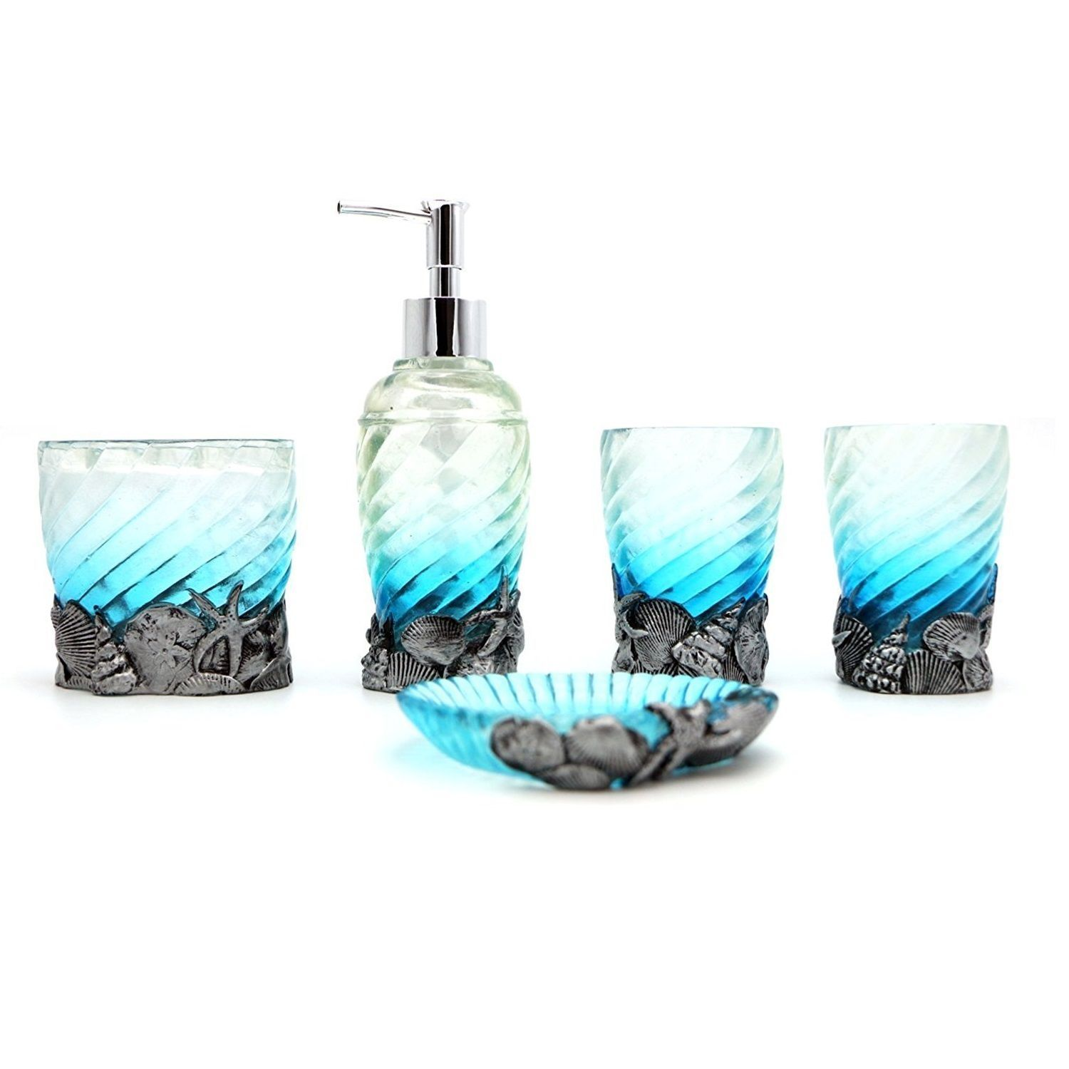 Beach Themed Bathroom Accessory Sets Discover The Best Coastal For Your Home