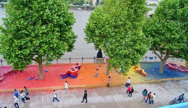 Fun Rainbow Park Installation by Adam Kalinowski | Wave Avenue