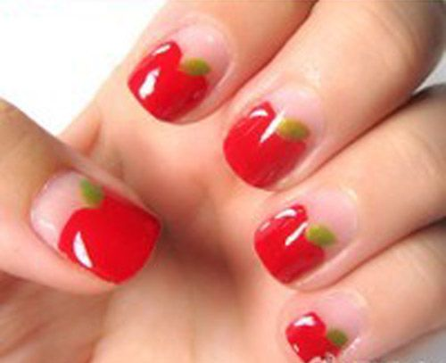 Fruit+Nail+Designs | New Fruity Nail Designs red apple fruit nail art – - Fruit+Nail+Designs New Fruity Nail Designs Red Apple Fruit Nail