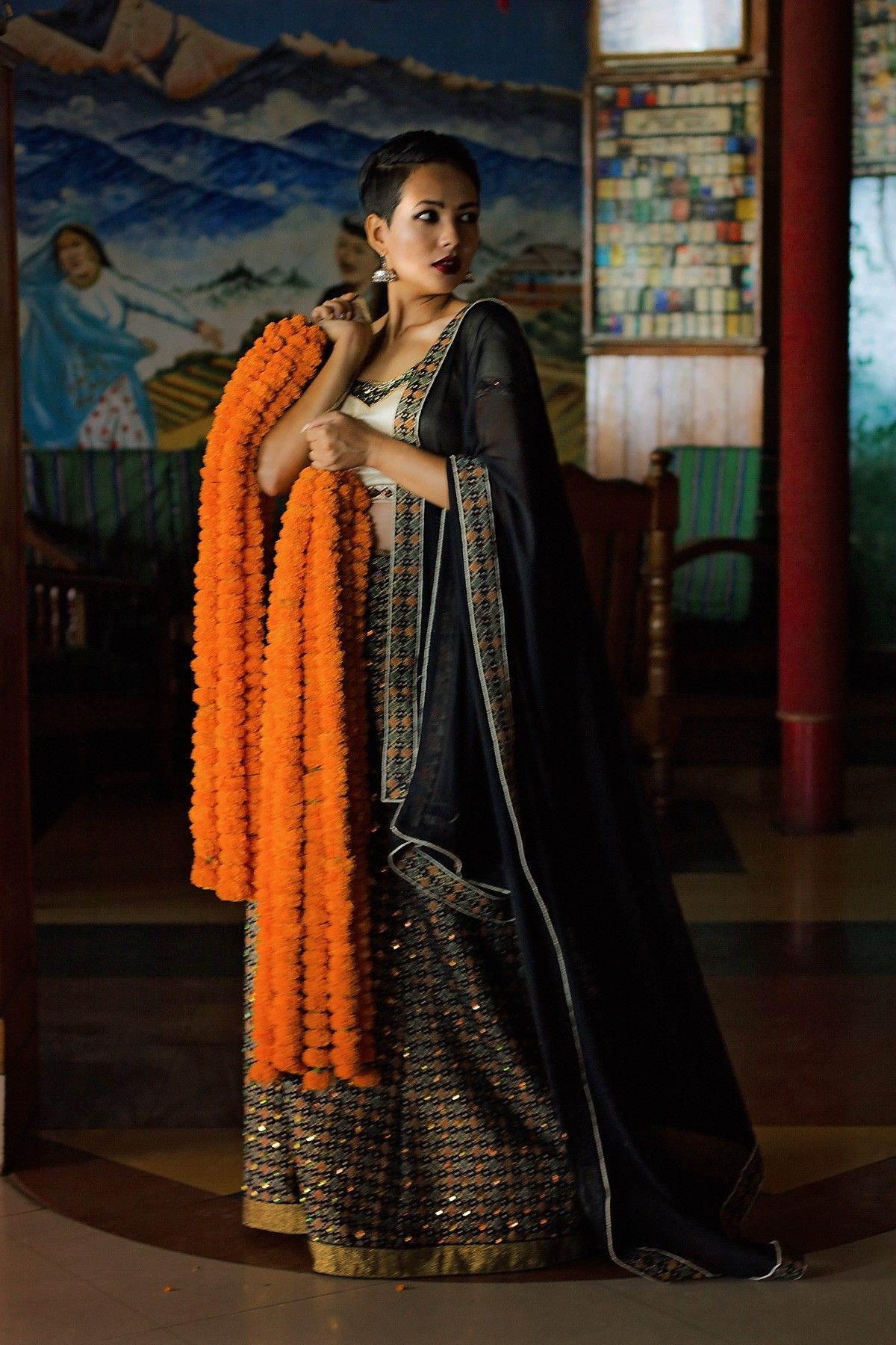 e3ae3b85b5fdd6 Nepali Dhaka Saree | Asian Fashion in 2019 | Fashion, Saree, Asian ...