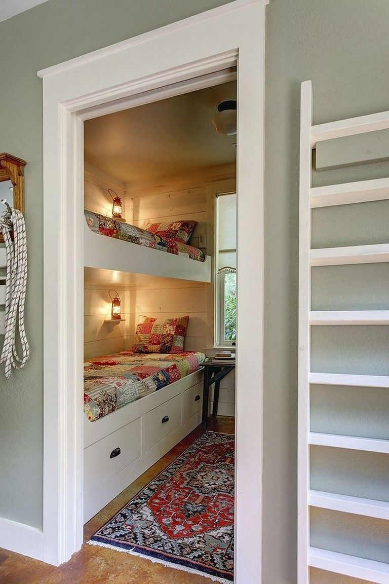 Best 68 Inspiring Bed Storage Ideas For Small Space Bunk Beds 400 x 300