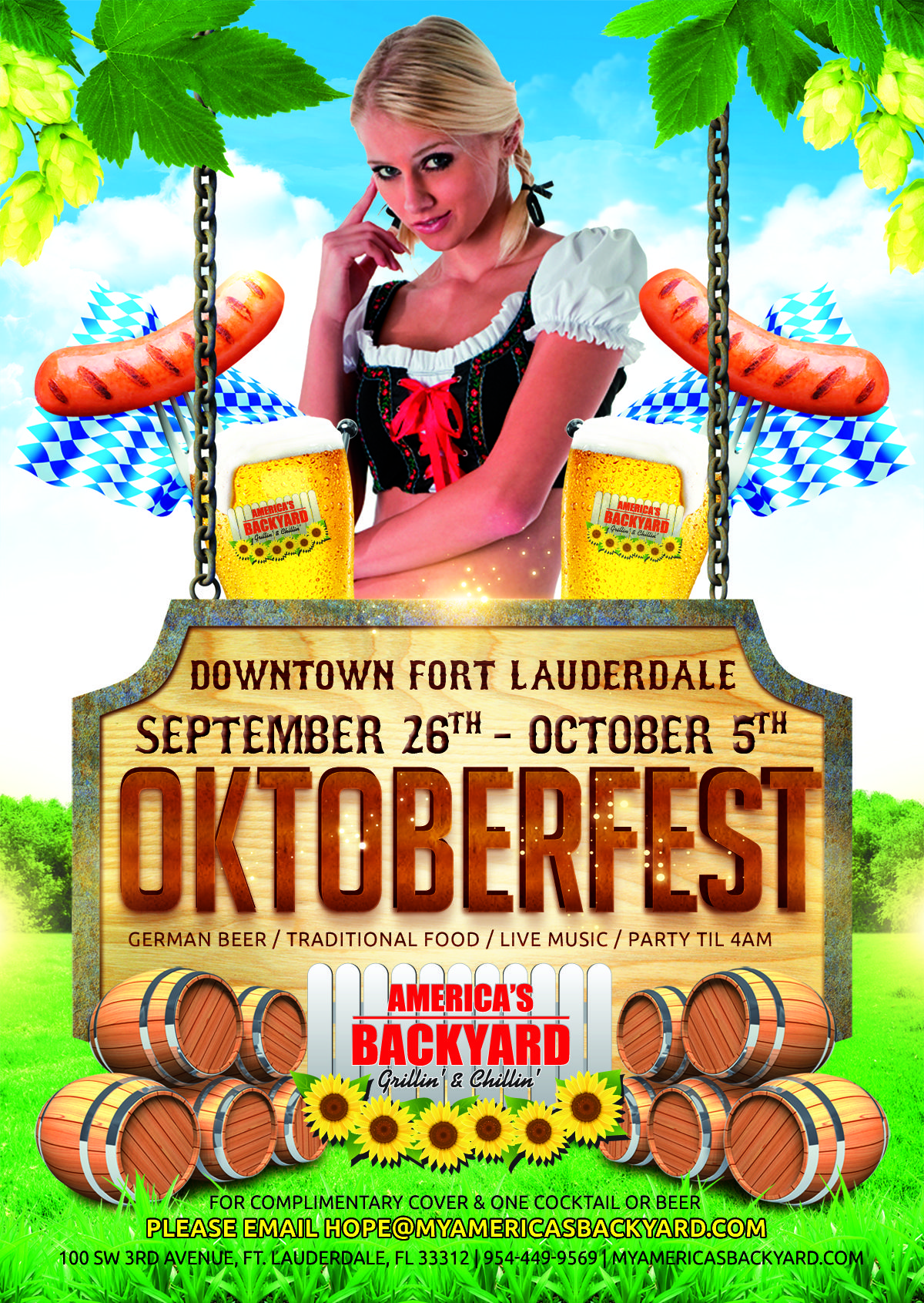 Oktoberfest At Americau0027s Backyard September 26th   October 5th! Come Enjoy  Traditional German Beerand Food, Games, And A Live Band!