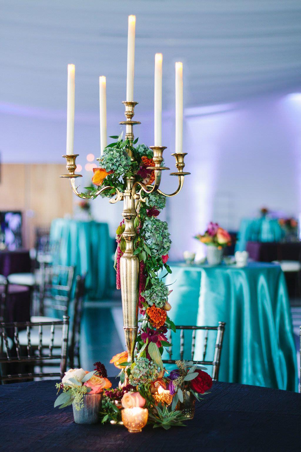 Whimsical Jewel Toned Waterfront Florida Wedding Purple Wedding