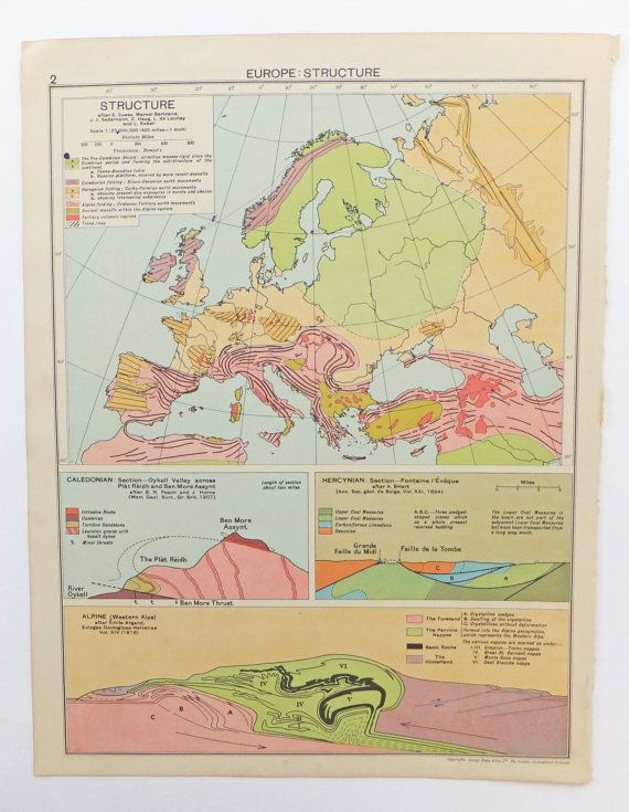 1948 World Map.1948 World Structure Map Large Vintage World Map Map Poster Home