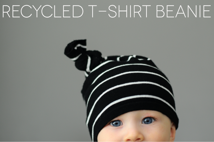 33bc4bd322b7d Make a super-cute beanie from an old t-shirt with this easy-peasy tutorial.
