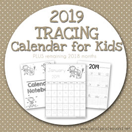 December 2019 Tracing Calendar January 2019 Calendars for Kids | School! Numbers | December