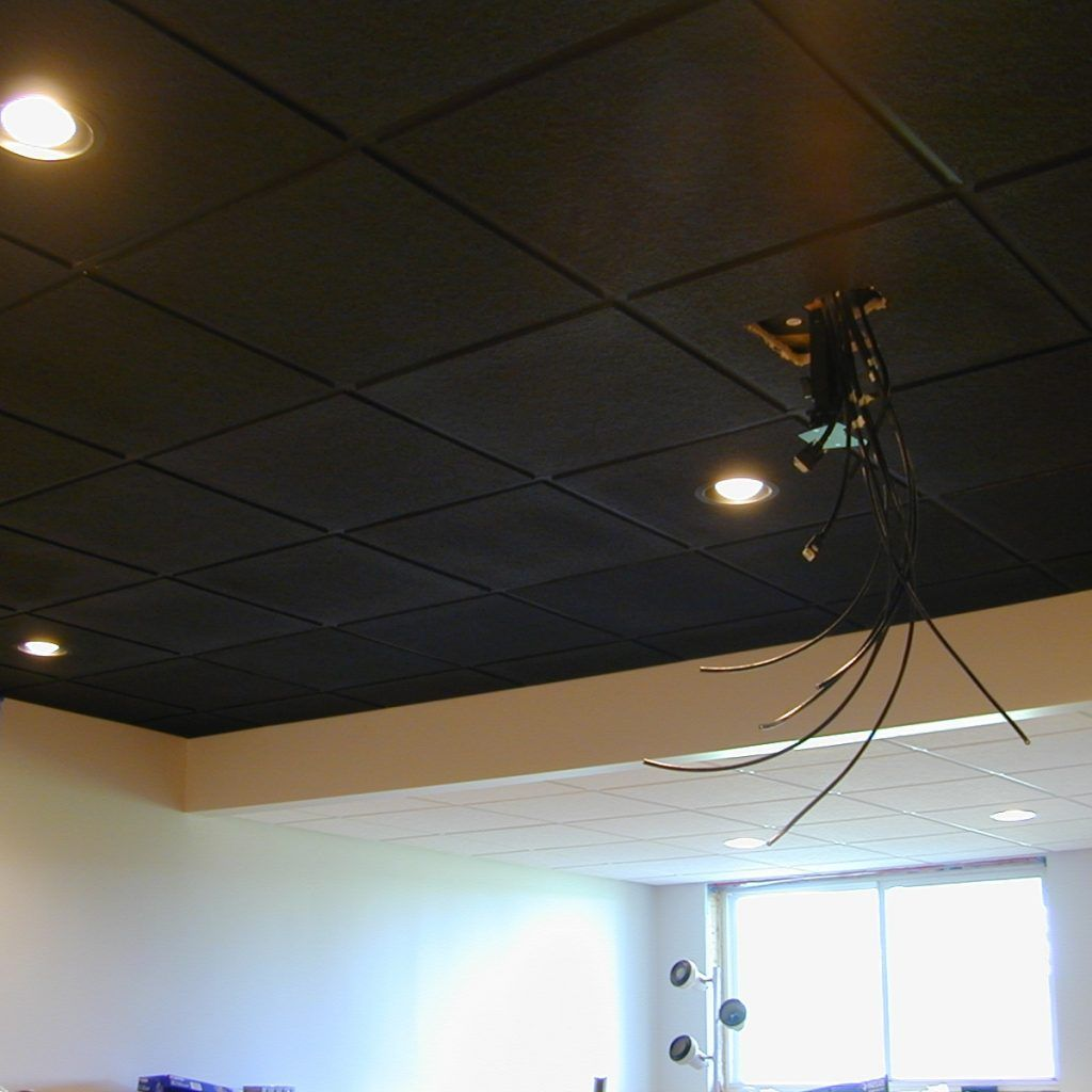Black Drop Ceiling Tiles 2 2 Black Ceiling Tiles Dropped Ceiling Ceiling Tiles