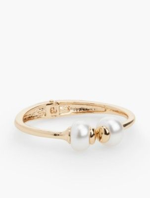 Talbots: Double Pearl Hinged Cuff