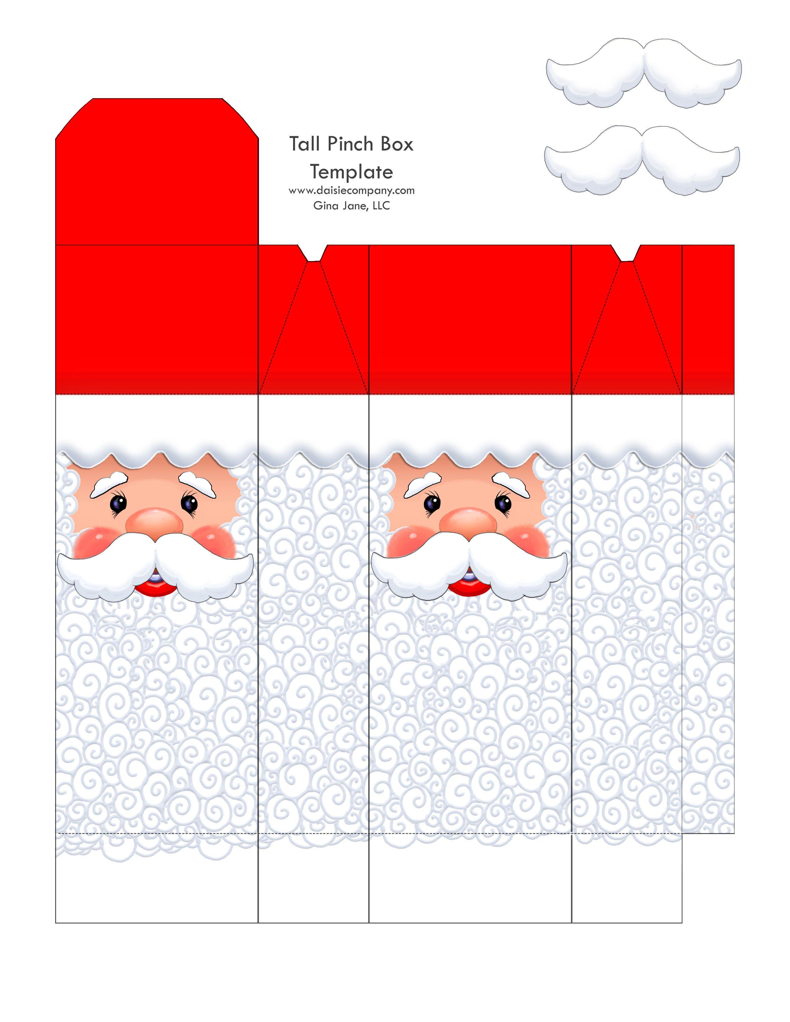 Santa face box - tall | Christmas Paper Crafts | Pinterest | Santa ...