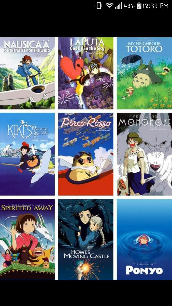 Pin by Peter A on other anime All studio ghibli movies