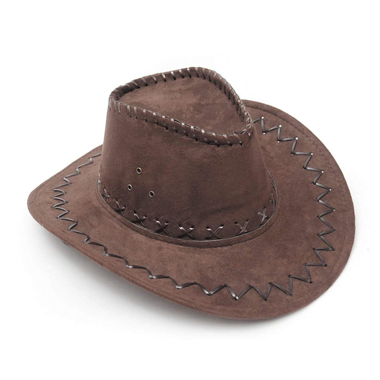 baca5694 NYKKOLA Western Authentic Gunslinger Hat Suede Cowboy Hat Unisex (black):  Amazon.co.uk: Toys & Games