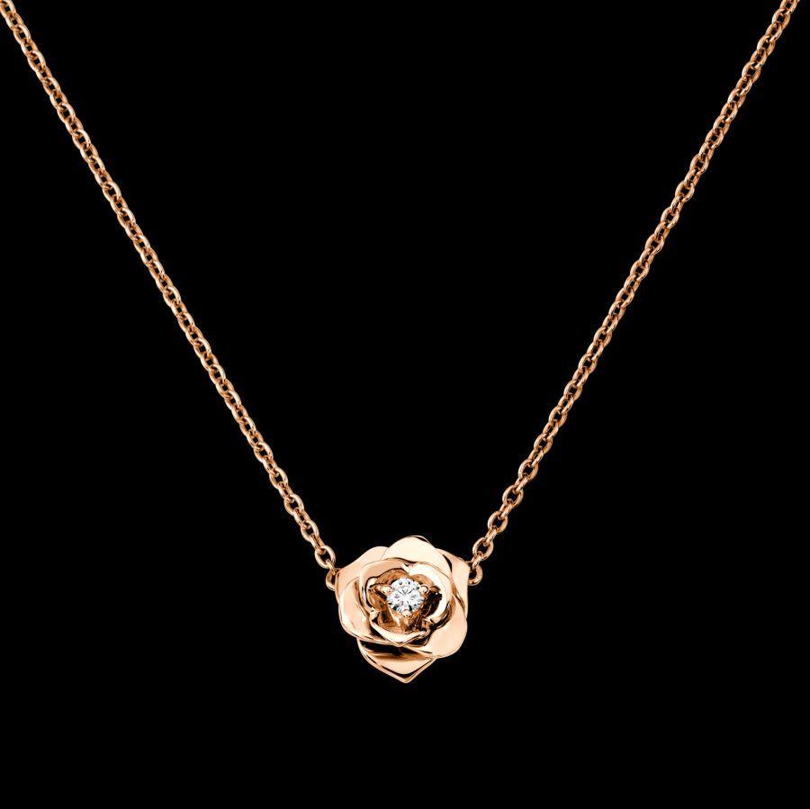 Rose gold diamond pendant gu piaget luxury jewelry online