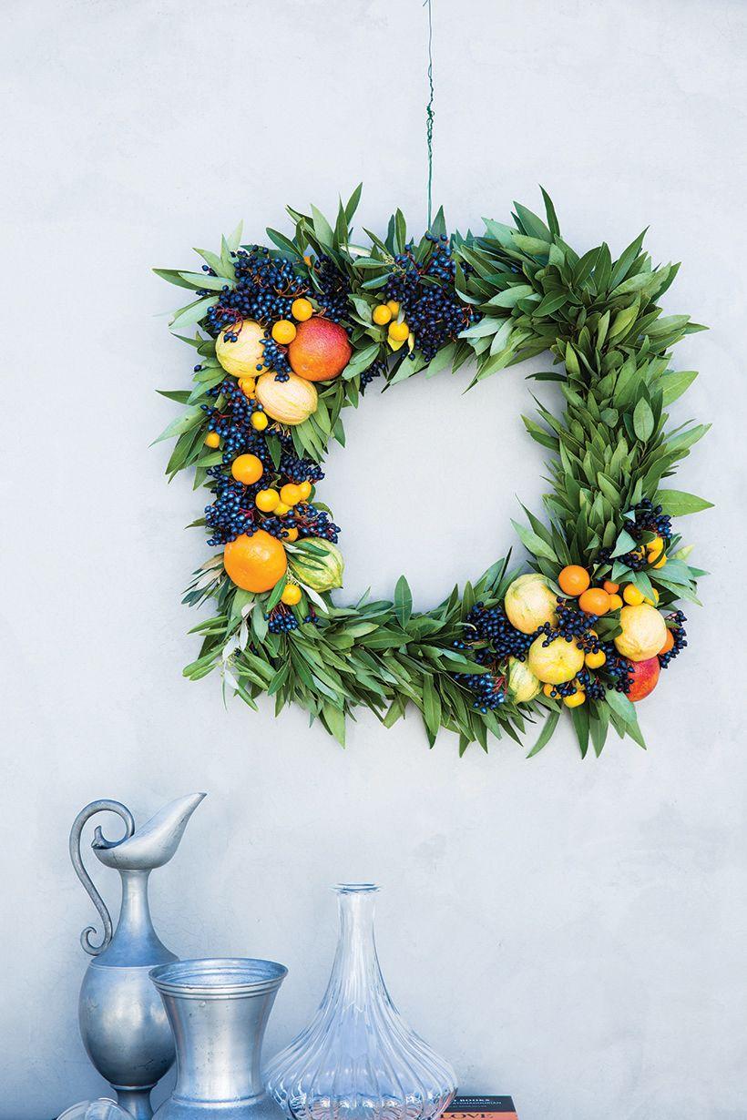 DIY Citrus Wreath | Kränze, Sommer DIY und Diy basteln
