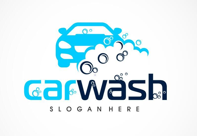 Car Wash Logo Vector Nature In 2019 Creative Logo Logos Car Wash