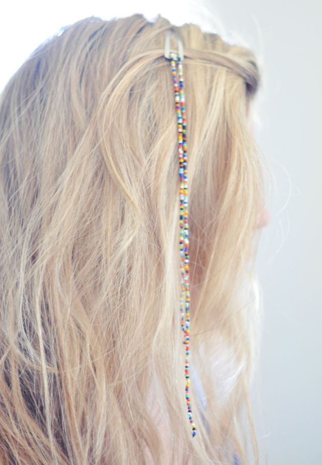 DIY Hanging Bead Hair Clips