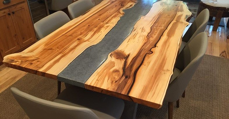 Yew Table, Concrete Table Site Crafthammer Design Seattle, WA  Make Concrete  WIDER For