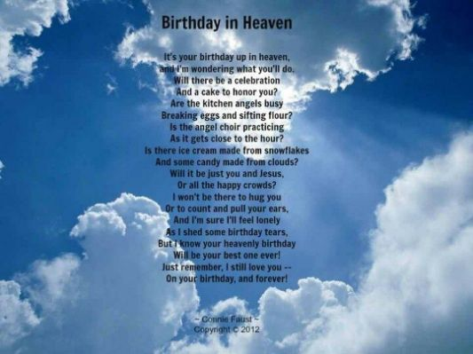 Happy Birthday In Heaven Images Birthdays