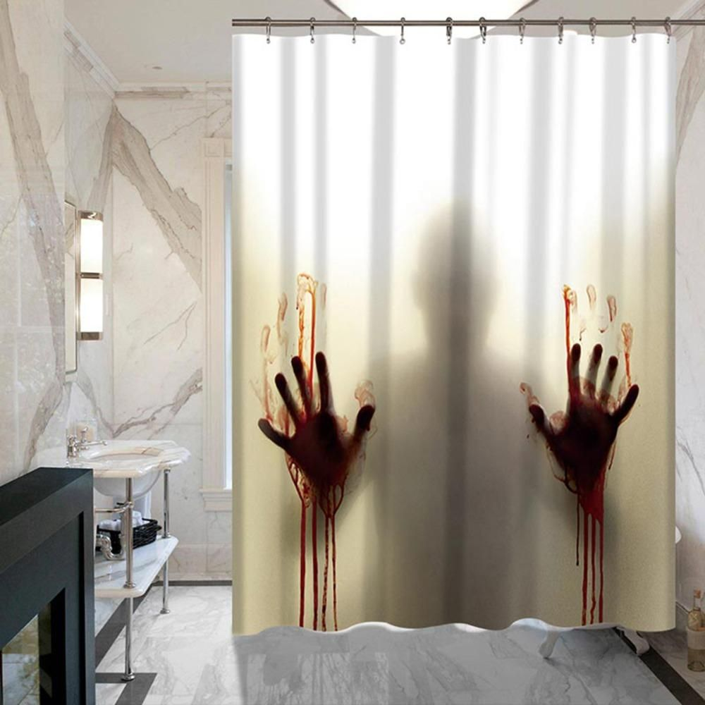 Horror Shower Curtain Psycho The Movie Funny Shower Curtains