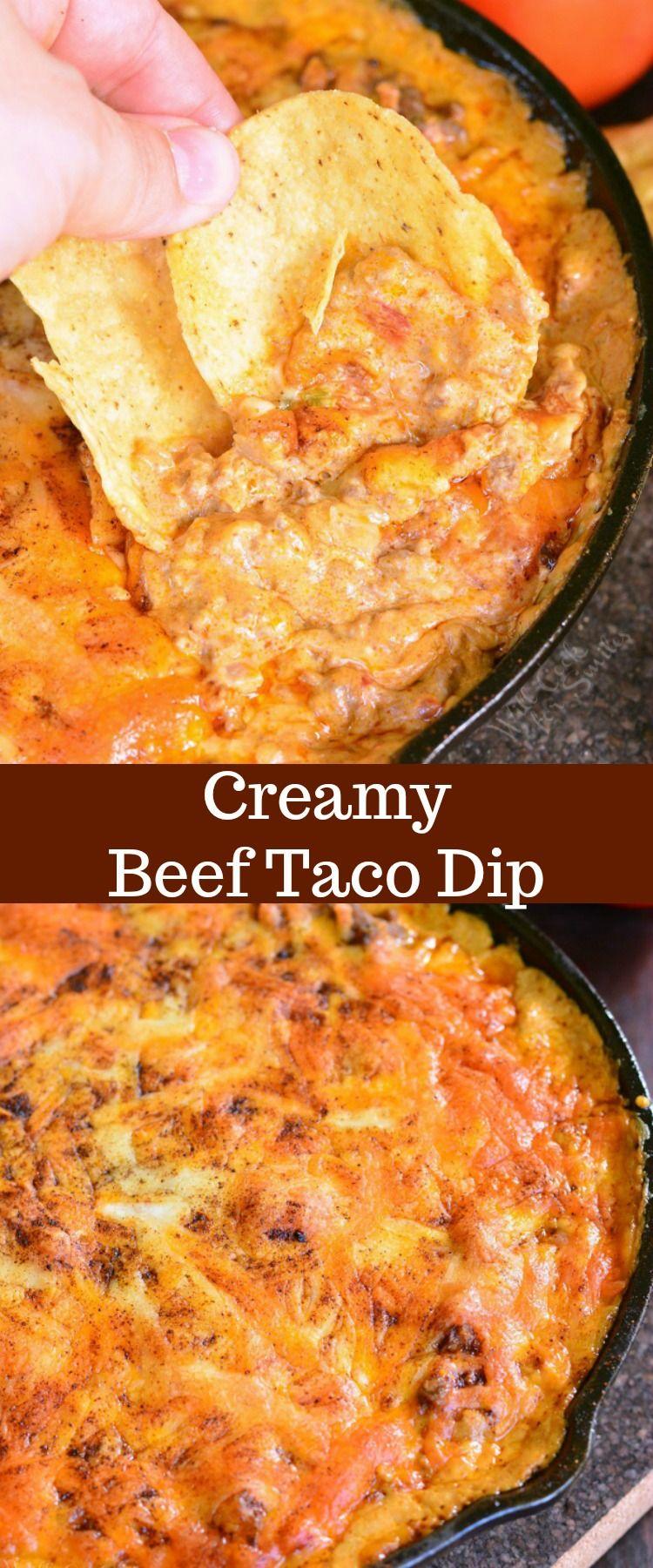 Creamy Beef Taco Dip