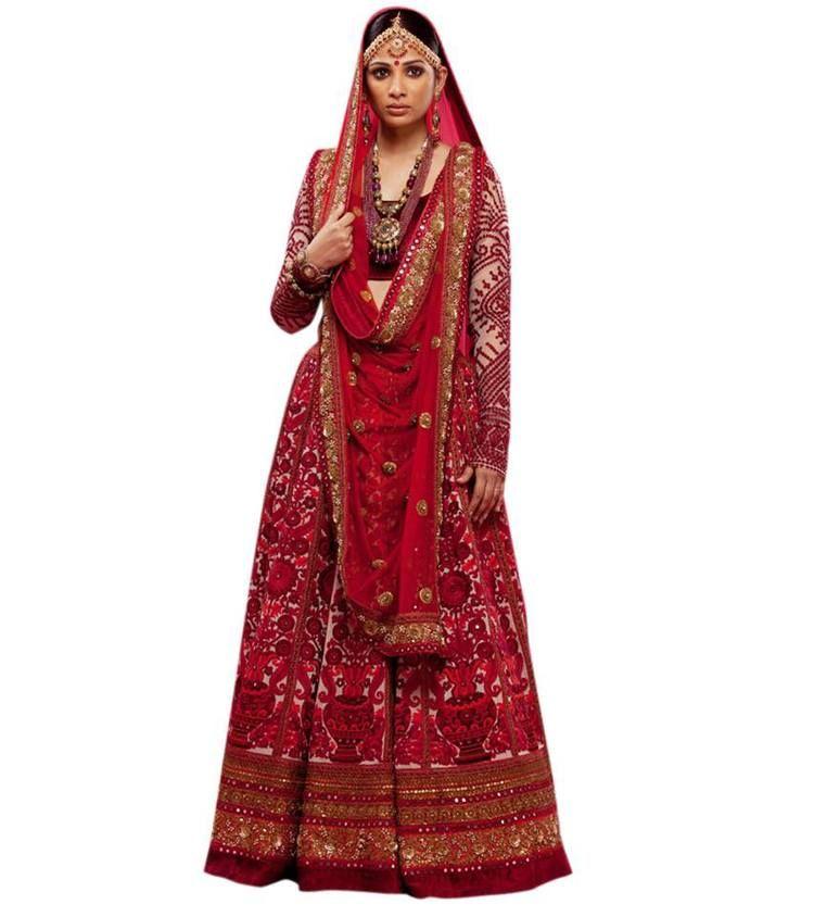 Sabyasachi Mukherjee - Sabyasachi Bride - Traditional Red Bridal ...