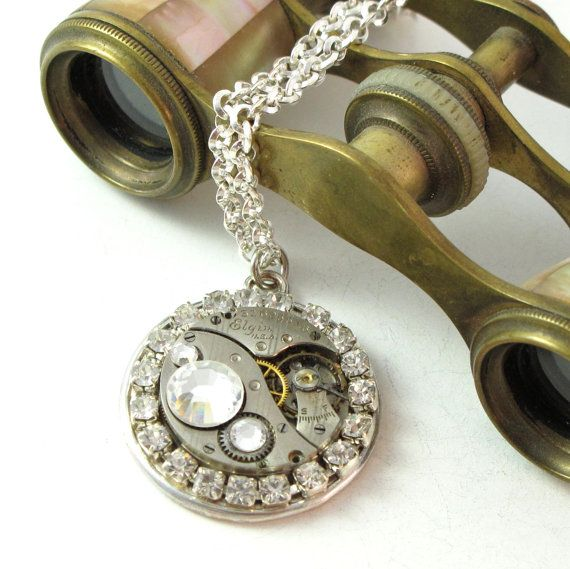 Vintage and Sparkle Necklace By Mystic Pieces