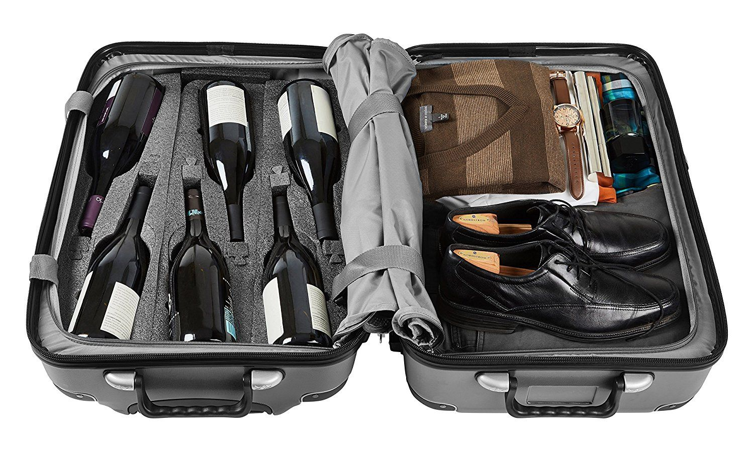 Vin Garde Valise Grande Standard Size Wine Travel Suitcase All Purpose Luggage Up To 12 Bot Wine Travel Suitcase Traveling Must Have Travel Accessories