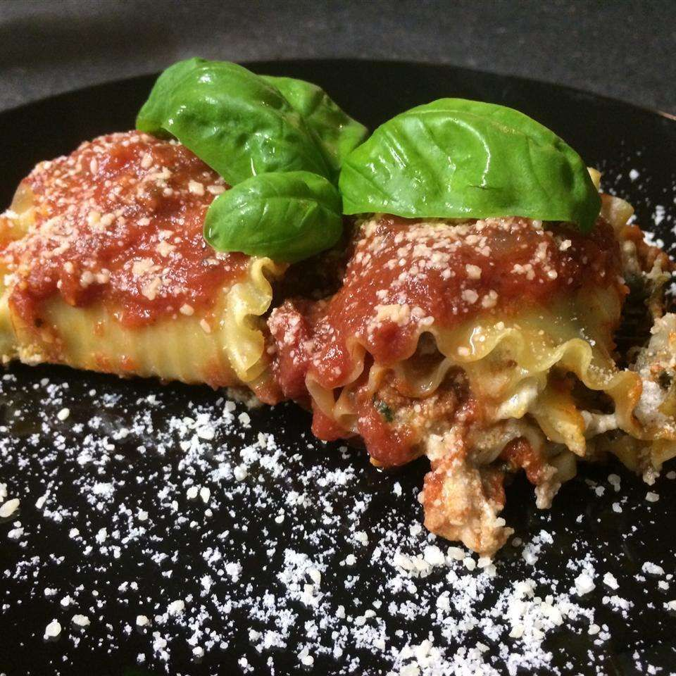 Spinach and Ricotta Lasagne Rolls Recipe Spinach and