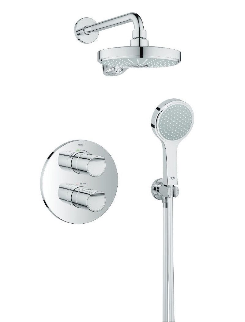 Grohe 2000 Grohe Grohtherm 2000 New Chrome Concealed Thermostatic Shower Set