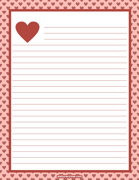 love heart writing paper A free heart template can help you make your own personalized valentines cards you can also use the template as an addition to a scrapbook or craft project, to make nametags or door labels, or just to leave a heart shaped note to show someone you love him.