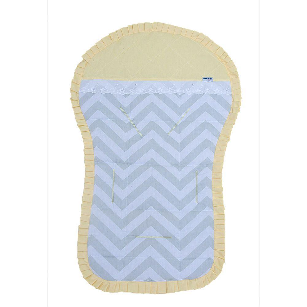 Capa para Carrinho de Bebê Brooklyn Chevron Cinza/Amarelo - Biramar - Baby Enxoval - BabyEnxoval