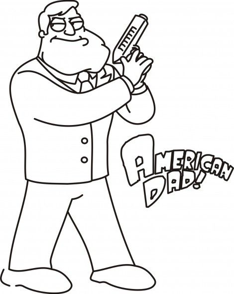 American Dad free colouring picture Books Worth Reading - new free coloring pages for father's day