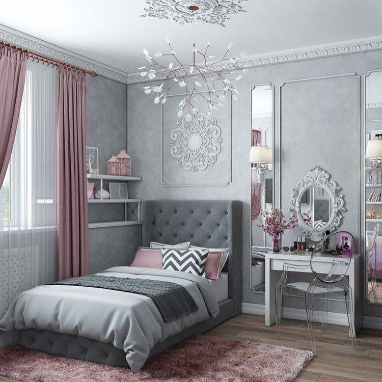 45++ Chambre rose et gris petite fille ideas