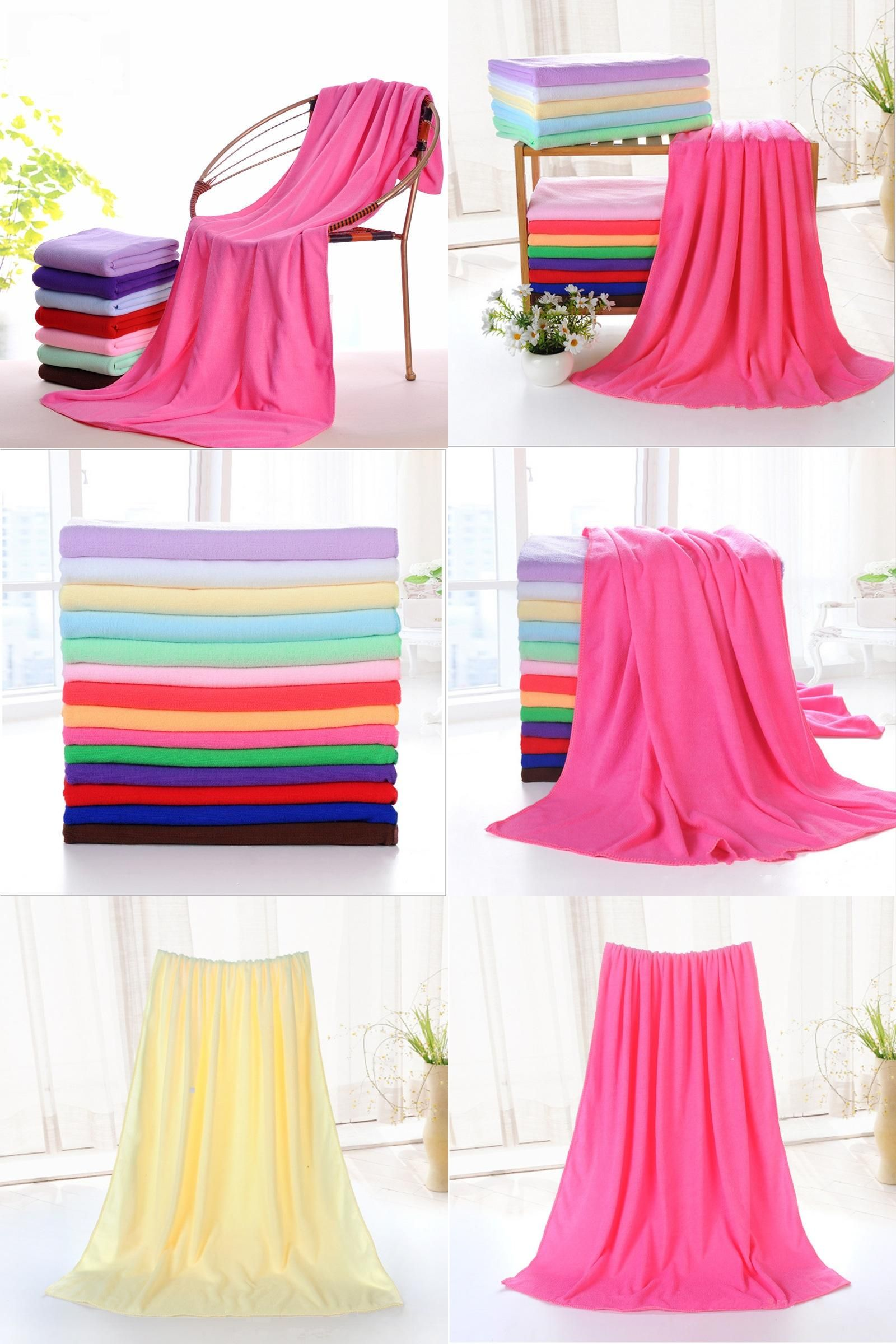 Visit To Buy 1pc Supersoft Microfiber Bath Towel Beach Towel