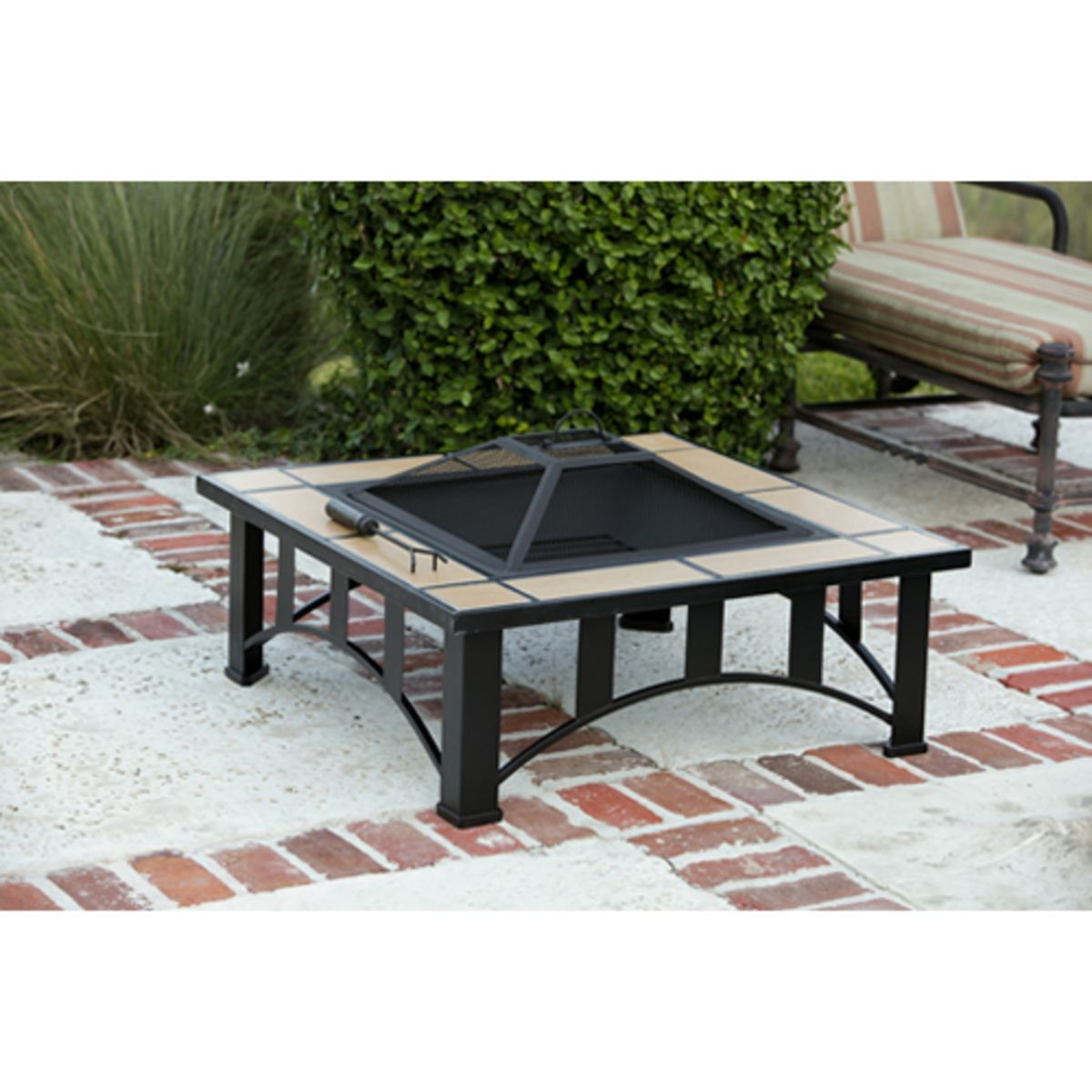 Fire Sense Tuscan Tile Mission Style Square Fire Pit Primary Image
