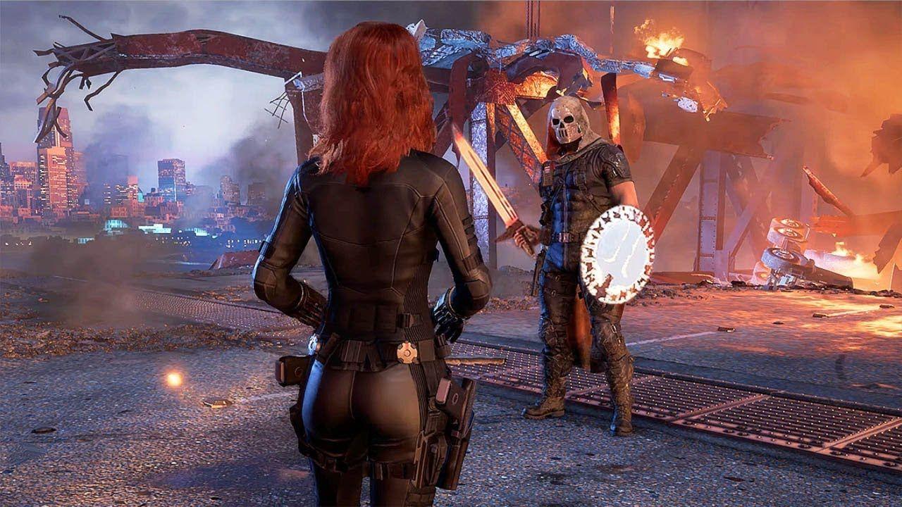 4k Avengers A Day Black Widow Vs Taskmaster Boss Fight