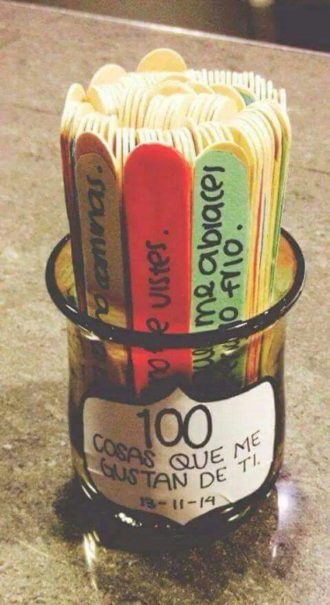 Sorpresa para el 14 de febrero 100 cosas que me gustan de - Ideas regalos manuales ...