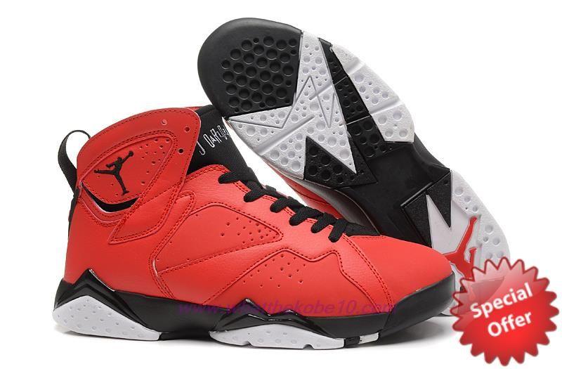 Black · Mens Bull AIR JORDAN 7 RETRO Red/Black 304775-625 Sale Online
