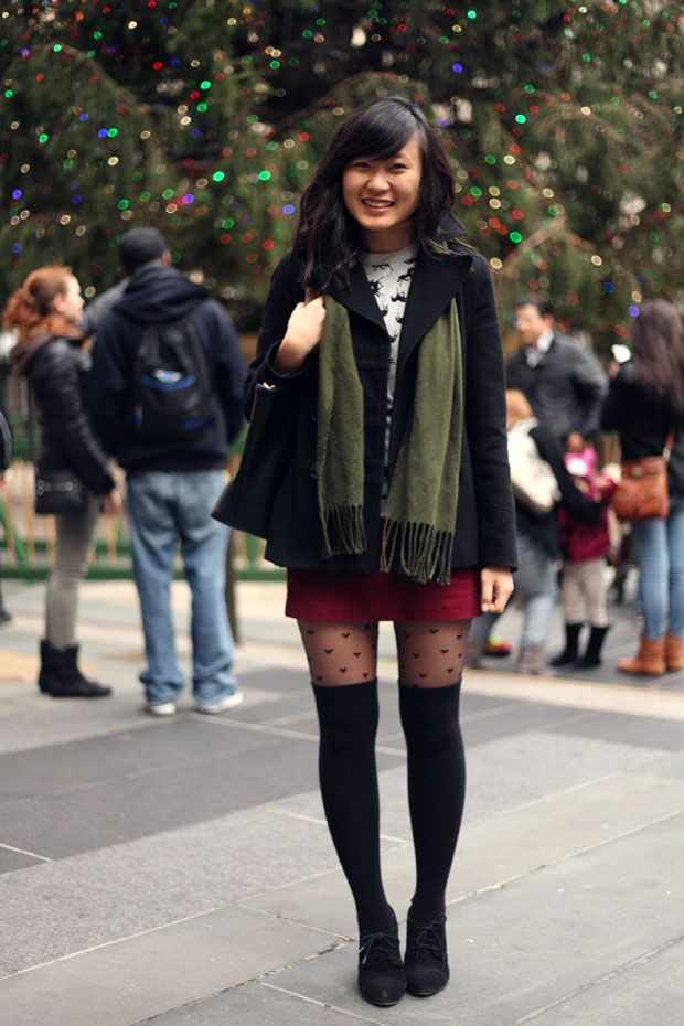 a37117398e Seriously love this look with the knee-highs over tights // JennifHsieh No  One