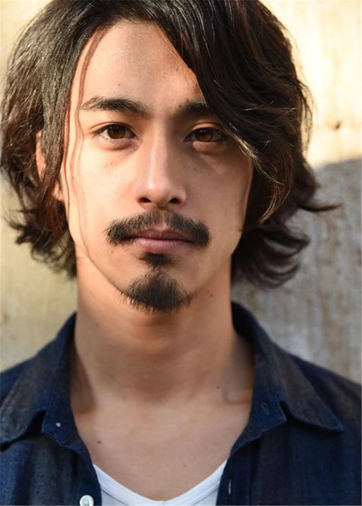 Japanese Haistyle Wavy Synthetic Hair Capless Wig Wigsiu Asian Men Long Hair Asian Long Hair Asian Hair