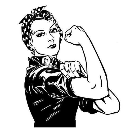 Image Result For Black And White Rosie The Riveter Graphic Rosie
