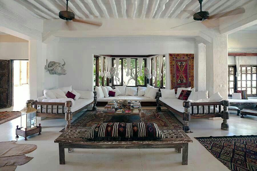 Baithak Style Living Room With White Waged Walls And Red Accents Indian Living Rooms Indian Interiors Home