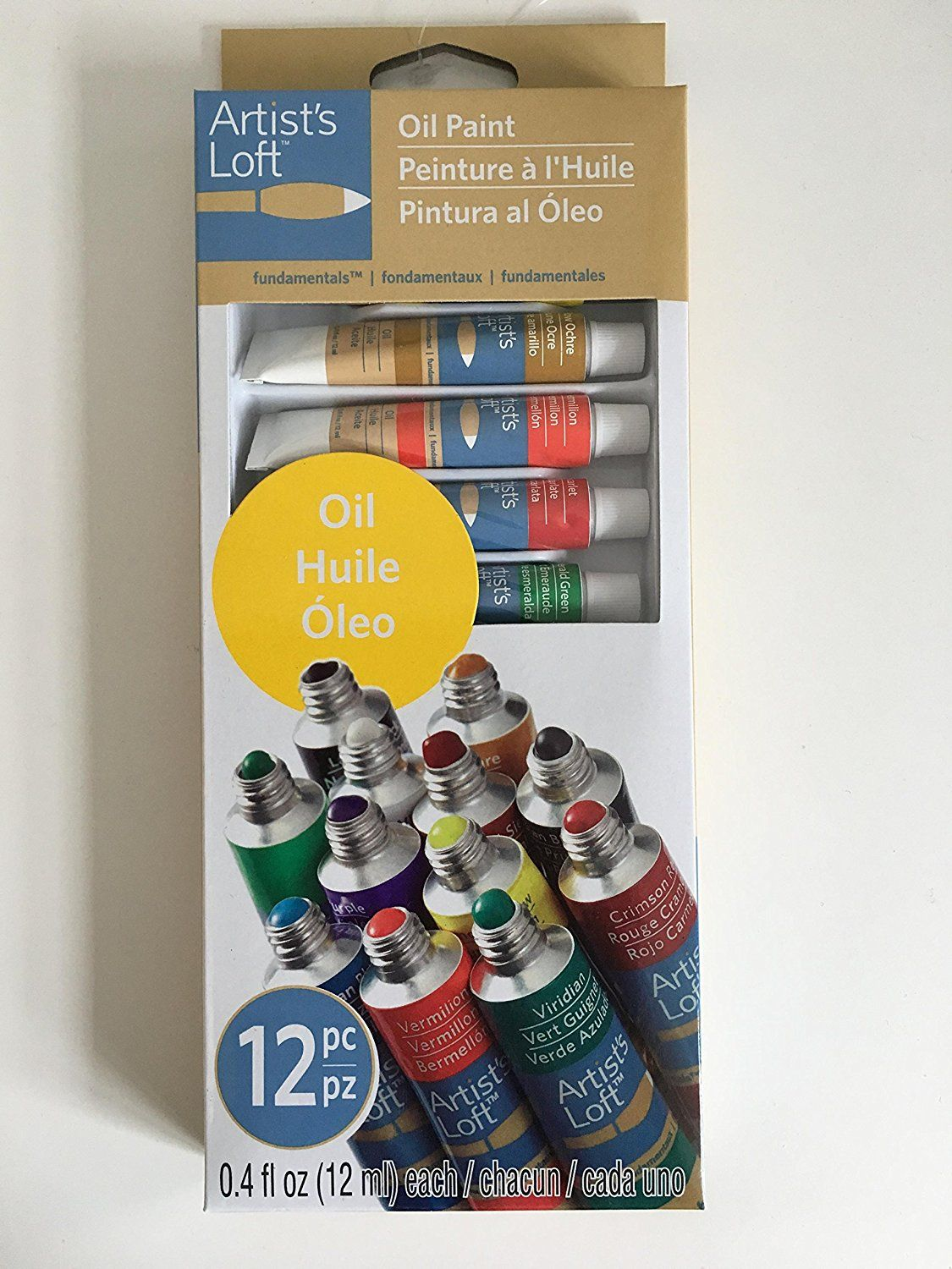Artist S Loft Oil Paint Set Of 12 Tubes 12ml Each High Quality