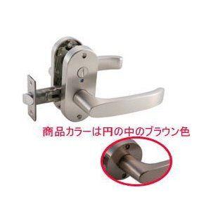 ドアノブ マツ六 mj24レバー 表示錠 トイレ錠 ブラウン バック
