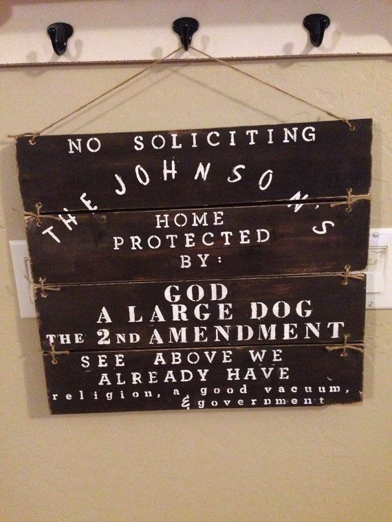 Handpainted No Solicting Front Porch sign: front porch sign. No ...