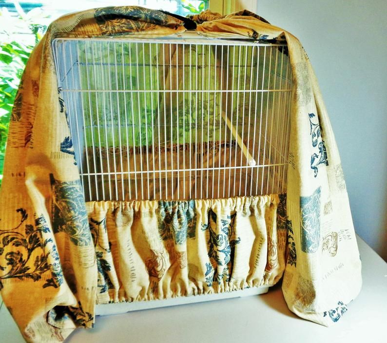 Large Extra Large Bird Cage Cover And Seed Catcher Skirt Set Etsy In 2020 Bird Cage Covers Large Bird Cages Bird