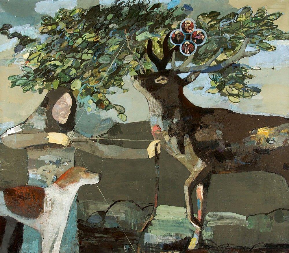 JEAN PIERRE RUEL, Légende de Hubert  2012, huile sur toile / oil on canvas